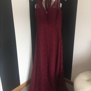 Mori Lee lace bridesmaid dress -Size 16
